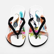 Funny Tribal Flip Flops
