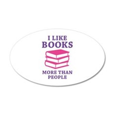 I Like Books 22x14 Oval Wall Peel