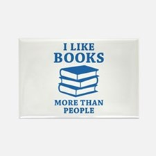 I Like Books Rectangle Magnet
