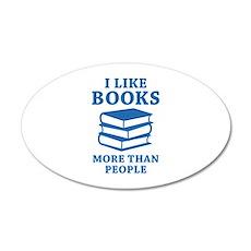 I Like Books 22x14 Oval Wall Peel