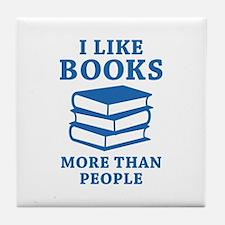 I Like Books Tile Coaster