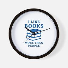 I Like Books Wall Clock