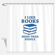 I Like Books Shower Curtain