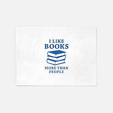 I Like Books 5'x7'Area Rug