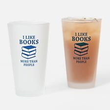 I Like Books Drinking Glass