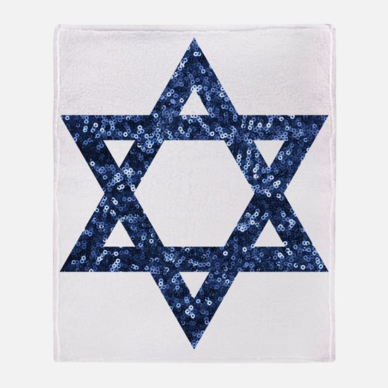 Funny Star of david Throw Blanket