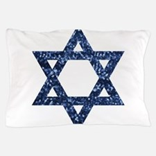 sequin star of david Pillow Case