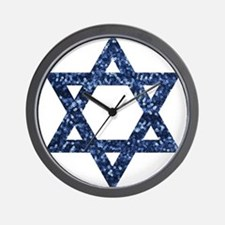 sequin star of david Wall Clock