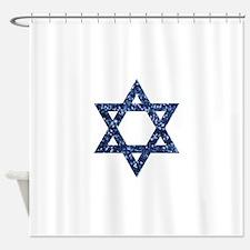 sequin star of david Shower Curtain