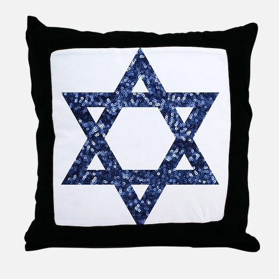 sequin star of david Throw Pillow