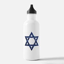 sequin star of david Water Bottle