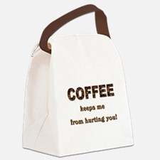 COFFEE KEEPS ME... Canvas Lunch Bag