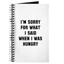 I'm Sorry For What I Said Journal