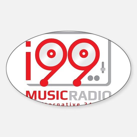 Cute Internet radio station Sticker (Oval)