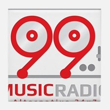 Funny Radio station Tile Coaster