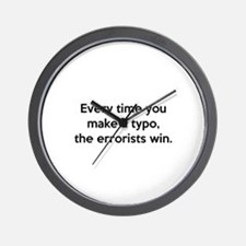 Every Time You Make A Typo Wall Clock