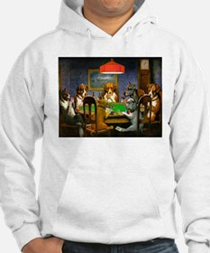 Dogs Playing Poker Hoodie