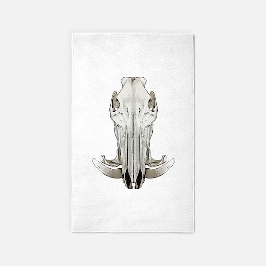 Hog skull Area Rug