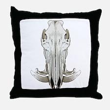 Hog skull Throw Pillow
