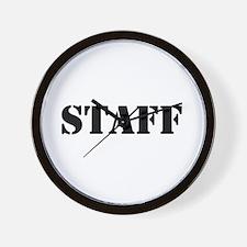 Unique Staff Wall Clock
