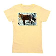 Cute Red fox animal Girl's Tee