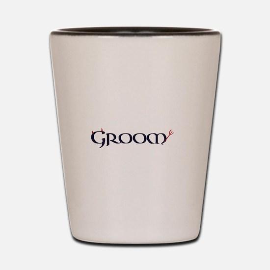 The Groom Shot Glass