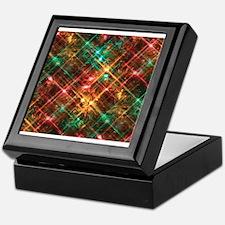 christmas tree lights Keepsake Box
