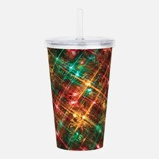 christmas tree lights Acrylic Double-wall Tumbler