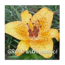 Grow with music! Tile Coaster
