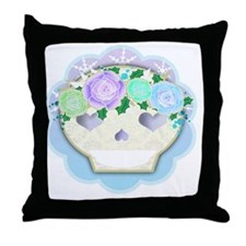 Funny Holly leaves Throw Pillow