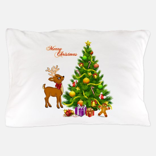 Shinny Christmas Pillow Case