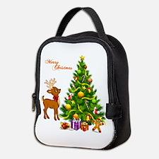 Shinny Christmas Neoprene Lunch Bag