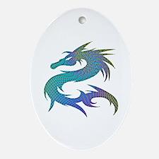 Dragon 1 - Oval Ornament