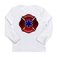 Cute Firemen Long Sleeve Infant T-Shirt