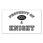 Property of a Knight Rectangle Sticker