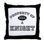 Property of a Knight Throw Pillow