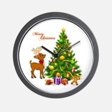 Shinny Christmas Wall Clock