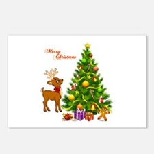 Shinny Christmas Postcards (Package of 8)