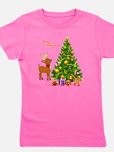 Shinny Christmas Girl's Tee