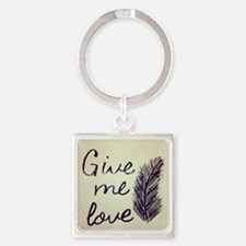 Cute Love me Square Keychain