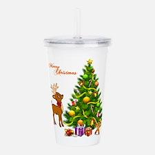 Shinny Christmas Acrylic Double-wall Tumbler
