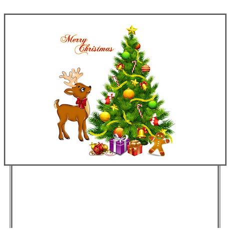 Shinny Christmas Yard Sign