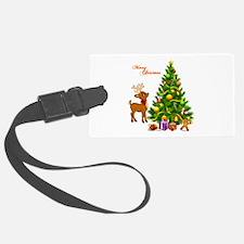 Shinny Christmas Luggage Tag