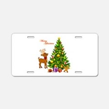 Shinny Christmas Aluminum License Plate
