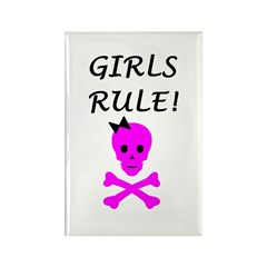 GIRLS RULE Rectangle Magnet (100 pack)
