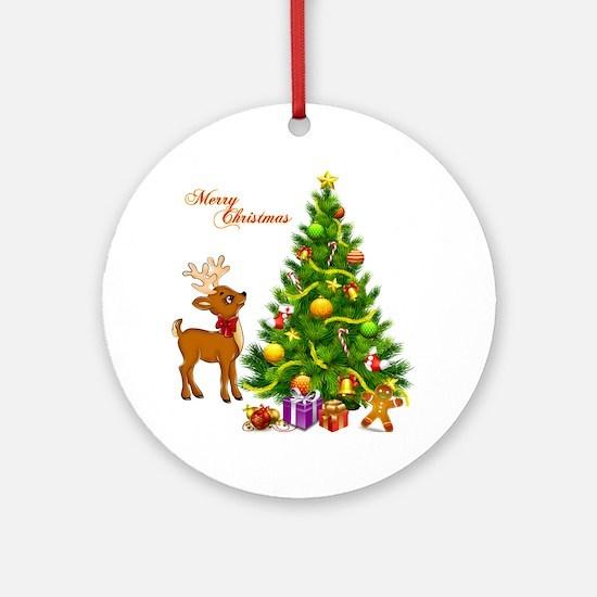 Shinny Christmas Round Ornament
