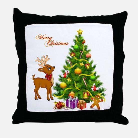 Shinny Christmas Throw Pillow
