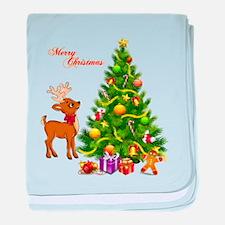 Shinny Christmas baby blanket