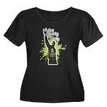 Robin Hoods Women's Plus Size Scoop Neck Dark T-Sh