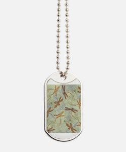 Dragonfly Dance Gold Dog Tags